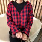 Inset Checked Shirt