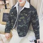 Fleece Lined Camo Jacket