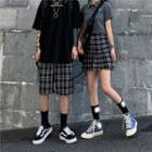 Plaid Shorts / Plaid Pleated Skirt