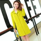 Snap-button Wool Coat
