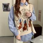Shirt / Printed Knit Vest