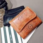 Laser Cut Faux Leather Wallet