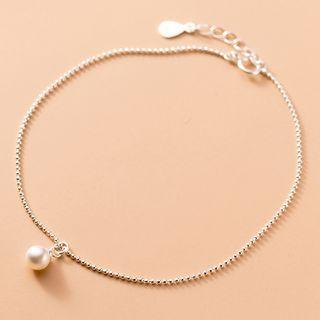 Faux Pearl Anklet As Shown In Figure - One Size