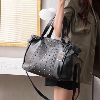 Studded Panel Shoulder Bag