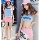 Set: Lettering Bikini + Short Sleeve T-shirt