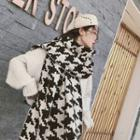 Houndstooth Scarf Houndstooth - Black & White - One Size
