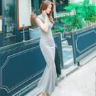 Sleeveless Midi Mermaid Dress