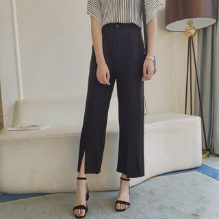 Slit Cropped Pants