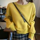 Cropped Plain Pullover
