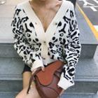 Leopard Oversized Knit Cardigan