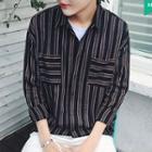 Pinstripe Long-sleeve Shirt