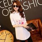 Flower-print Long Shirt