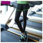 Piped Inset Shorts Leggings