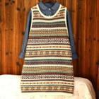 Sleeveless Printed Knit Dress