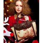 Elephant Print Faux Leather Tote