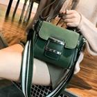 Faux-suede Buckled Satchel