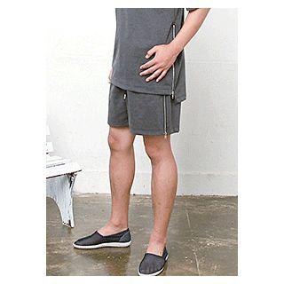 Band-waist Zipped Shorts