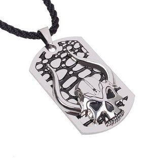 Skull Tag Necklace