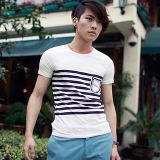 Short-sleeve Striped T-shirt