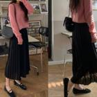 Chiffon Long Pleated Skirt