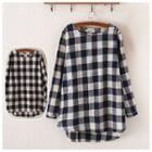 Gingham Long-sleeve Top