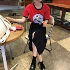Plain Irregular Midi Skirt