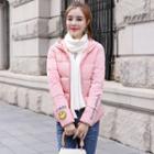 Smile Print Hooded Padded Jacket