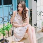 Sleeveless Dot Printed Dress