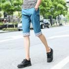 Printed Hem Shorts