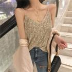 Loose-fit Sequined Top