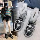 Patent Platform Ankle Snow Boots