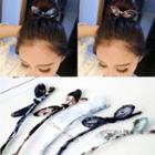 Bow Hair Bun Maker
