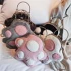 Furry Paw Crossbody Bag