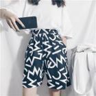Wide-leg Printed Shorts