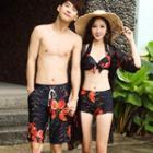 Couple Matching Set: Tankini + Beach Cover-up / Swim Shorts