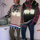 Couple Matching Reflective Lettering Sweater Vest