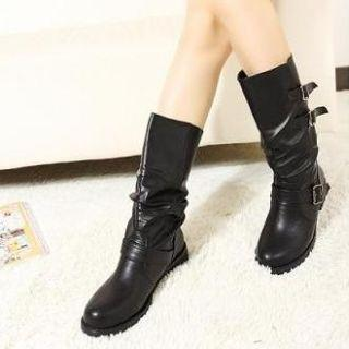 Belted Tall Boots