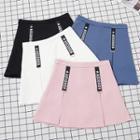 Letter Pleated Mini Skirt