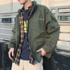 Reflexive Letter Zip Jacket