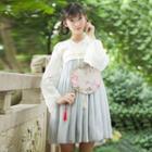 Long-sleeve A-line Dress / Maxi Dress