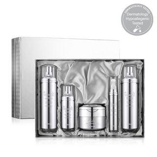 Dr.oracle - Real White Set: Moist Gelly Booster 120ml + Brightening Soft Lotion 120ml + Illumination Cream 50ml + Eye Cream 15ml + Treatment Serum 30ml 5pcs