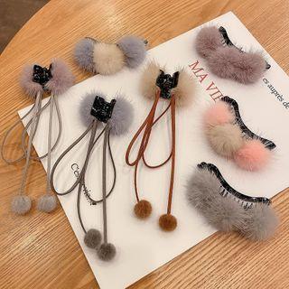 Pompom Hair Clamp / Scrunchie / Hair Pin