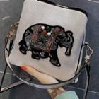 Elephant Faux Leather Crossbody Bag