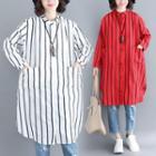 Long-sleeve Long Striped Shirt