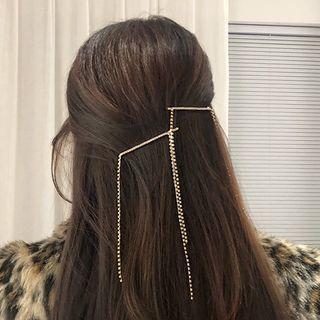 Rhinestone Fringe Hair Clip