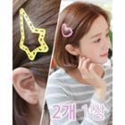 Heart / Star Openwork Hair Clip