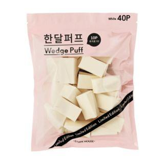 Etude House - Wedge Puff 40pcs (2 Colors) White