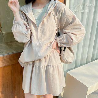 Hooded Nylon Zip Jacket