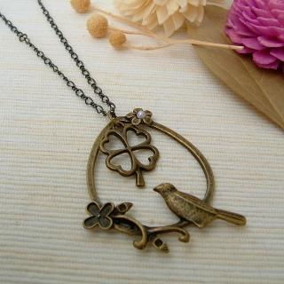Forest Bird Necklace Copper - One Size