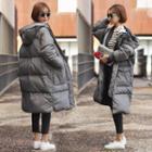 Zipper Hooded Padded Coat